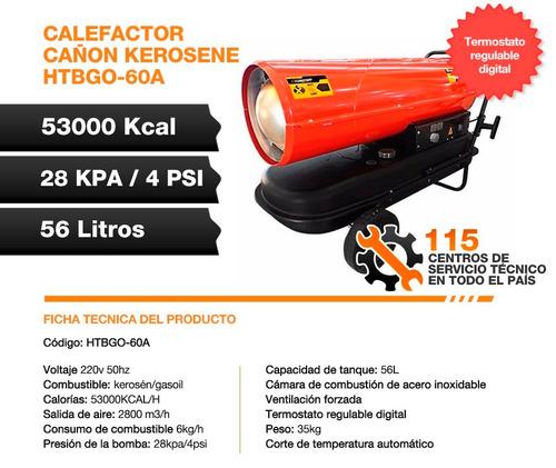 calefactor cañon kerosene gasoil 53000kcal portatil lusqtoff