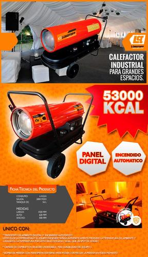 calefactor cañon kerosene/gasoil 53000kcal termos lusqtoff