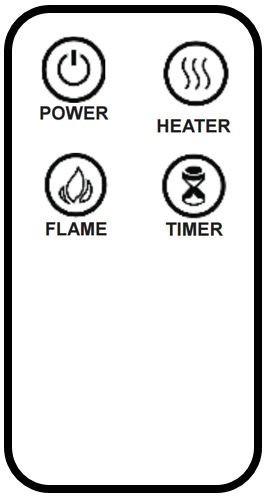 calefactor chimenea eléctrica de pared pantalla curva 60cm