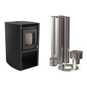 Calefactor De Doble Combustión + Kit Caños 52mt2 Oferta