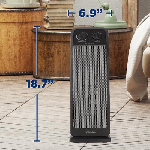 calefactor de torre de cerámica de 18,7 '', wht0571