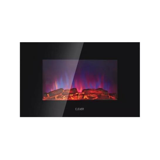 Calefactor Electrico Clever Hogar Efecto Simil Fuego 2000w
