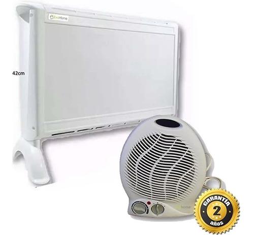 calefactor electrico exahome + caloventor estufa sin interes