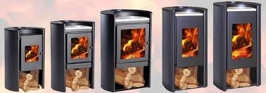 calefactor estufa a leña rondo 450 design + obsequio