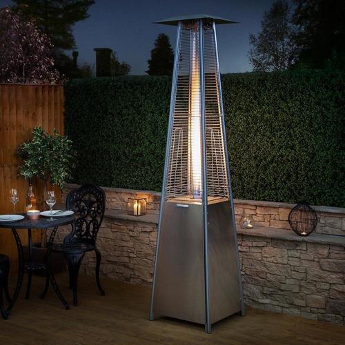 calefactor estufa exterior patio daewoo piramide inox bares