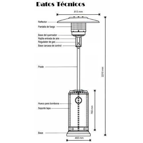 calefactor estufa gas