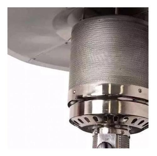calefactor exterior cuerpo con mesa inox estufa hongo gas