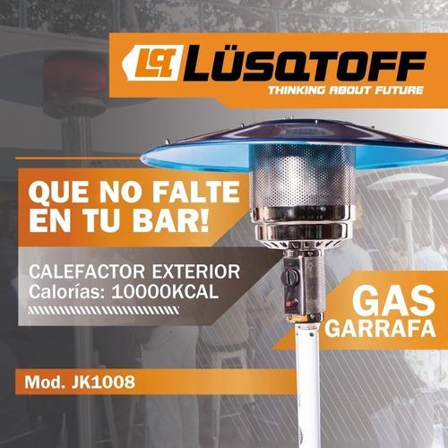 calefactor exterior estufa hongo jk-1008 lusqtoff con ruedas
