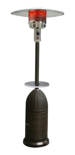 calefactor exteriores  ratan con mesa y ruedas