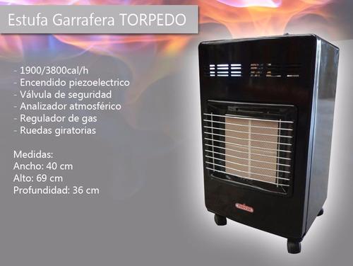 calefactor gas estufa garrafera