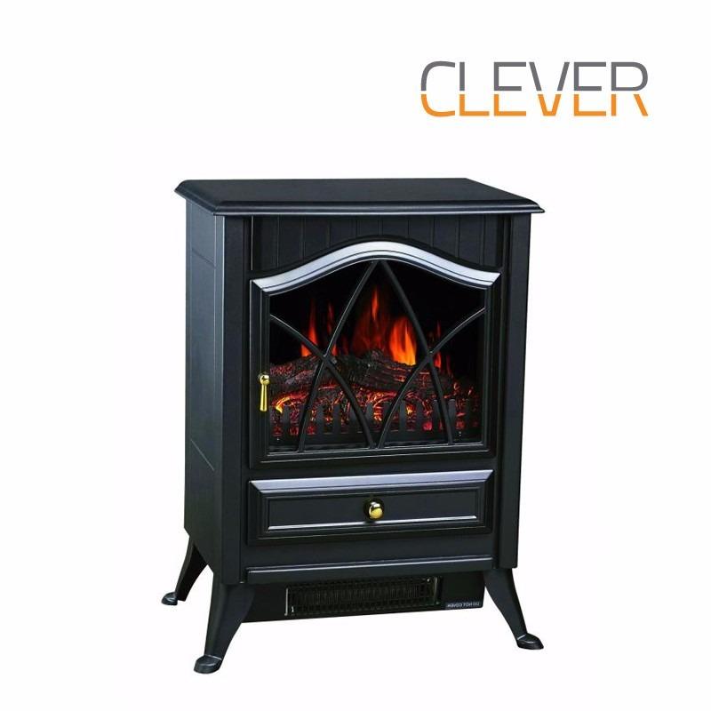 Calefactor Hogar Electrico Estufa Fuego Leña Clever Fpp1800 ...