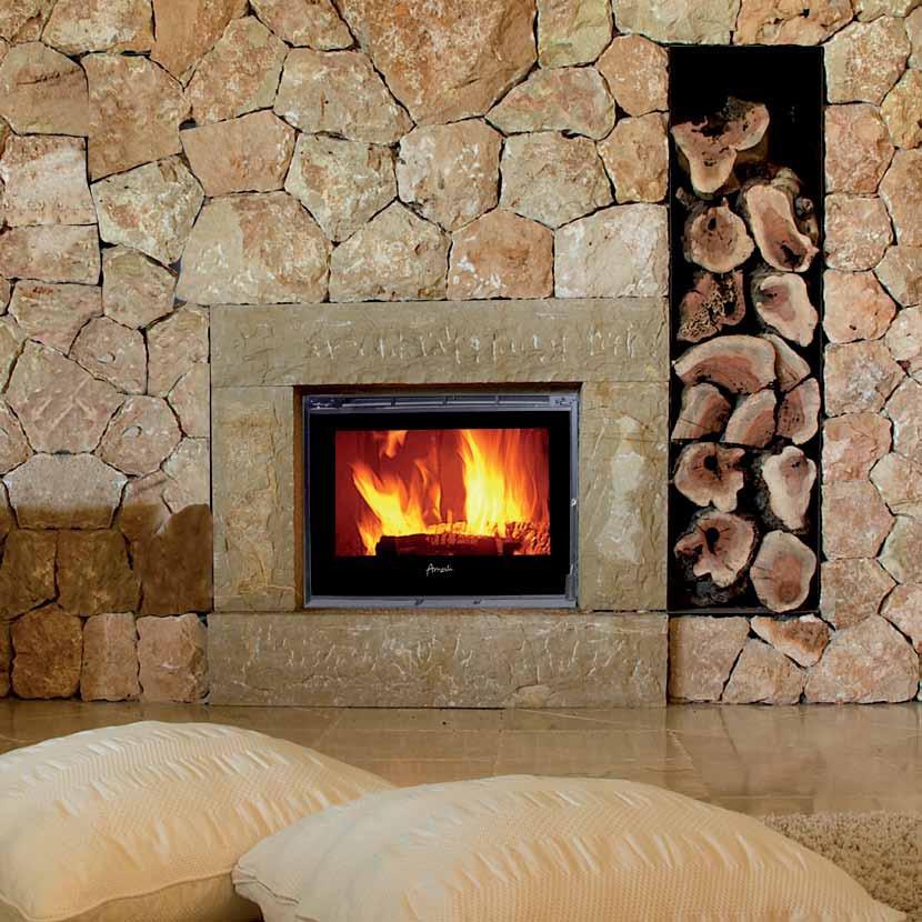 Calefactor le a amesti inserto 800 palladio oferta contado for Estufas amesti precios
