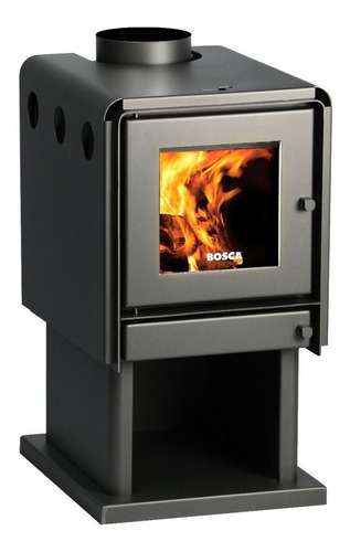 calefactor leña bosca limit 360 + kit chimenea 4m pot 8.7 kw