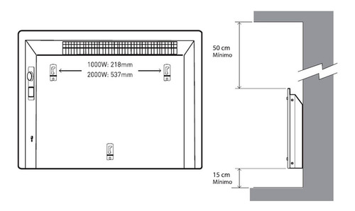 calefactor vitroconvector peabody pe-vc10 1000w envio gratis