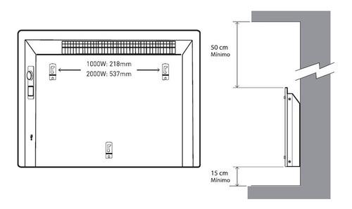 calefactor vitroconvector peabody pe-vc10 1000w nuevo diseño