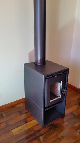 calefator estela maris a lenha dupla combustão / lareira new
