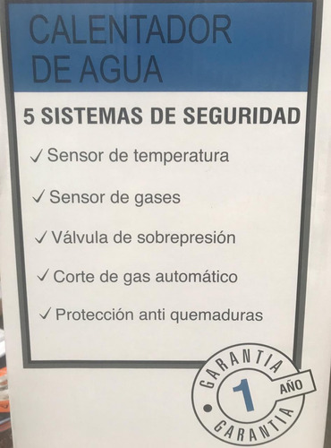 calefon a gas 26 litros continental 1 año garantia calefones