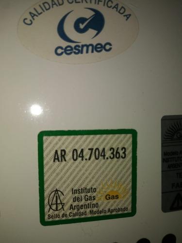 calefón a gas natural, saiar, con encendido electrónico .