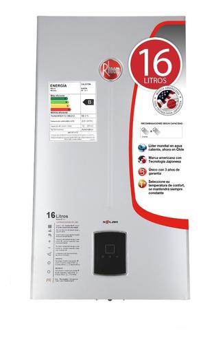 calefon gas natural 16 litros tiro natural rheem ionizado