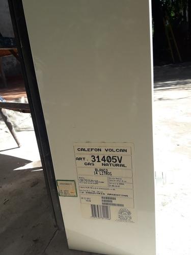 calefon marca volcan 14lts blanco a gas natural $10.000