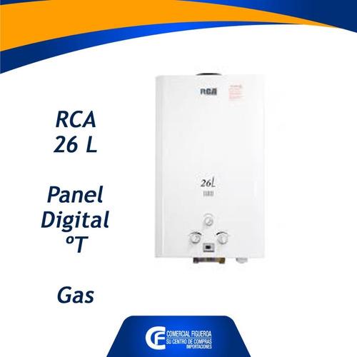calefon rca 26 litros a gas panel de ºt digital.
