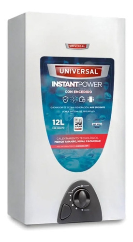 calefón universal 12ltrs gas natural cu126 manual compacto -