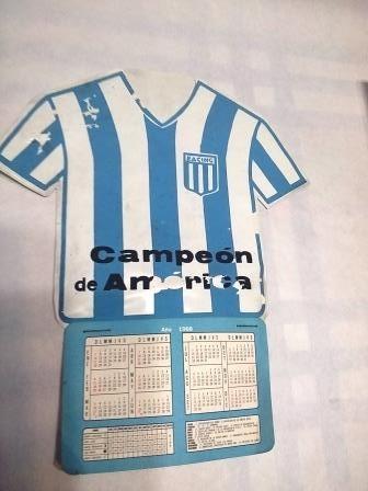 Calendario 1968.Calendario 1968 Racing Club Campeon De America Camiseta 1 350 00