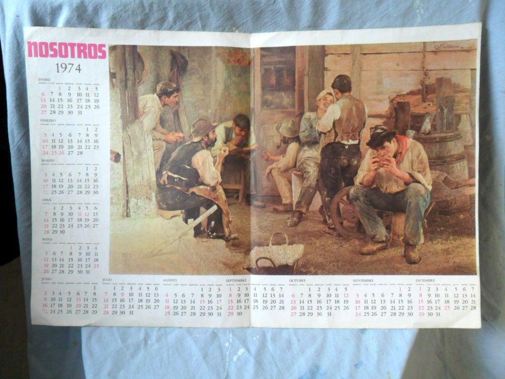 Calendario 1974.Calendario 1974 Revista Nosotros Pio Collivadino 92 00
