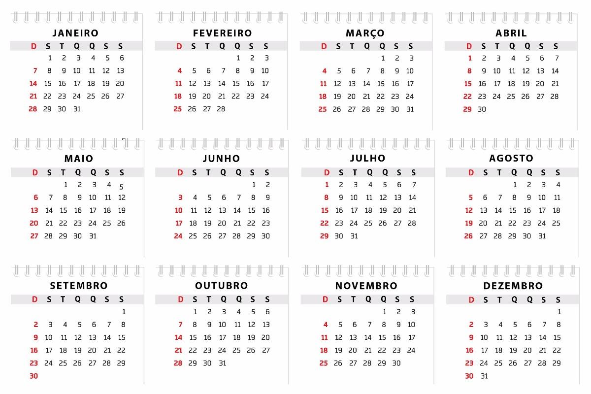 Calendario De 2018 Com Todos Os Feriados