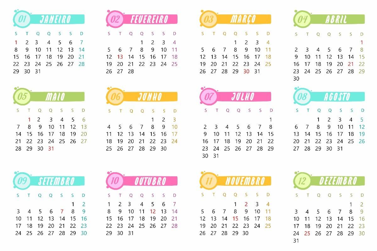 Resultado de imagem para calendários 2018 educação infantil