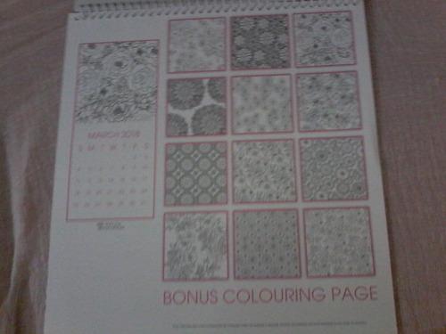 calendario 2018 mandalas para colorear