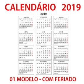 Calendario 2020 Brasileiro Com Feriados.Calendario 2019