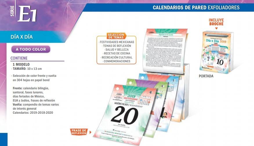 Calendario 2019 De Pared Exfoliadores Calidad Personalizado