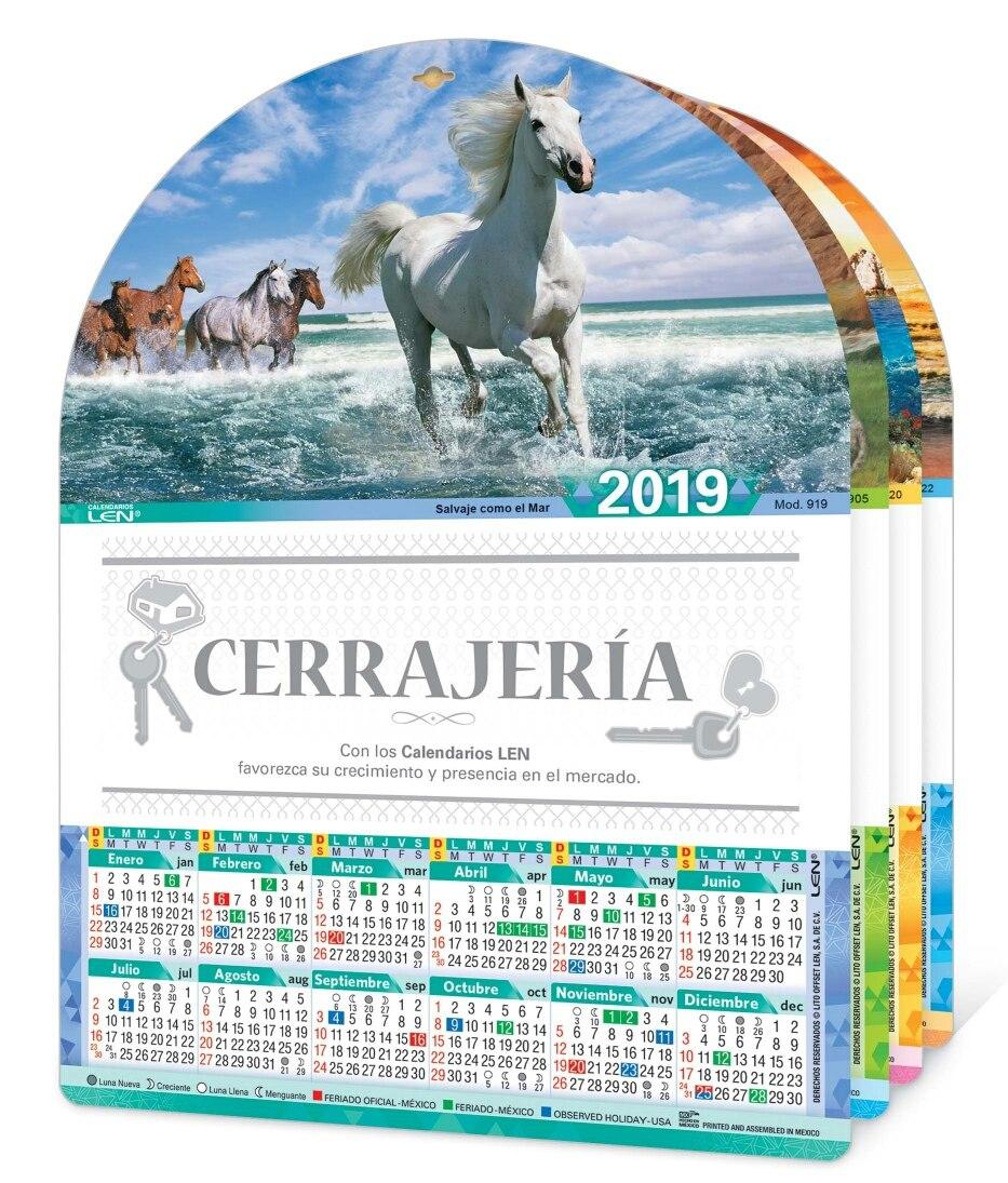 Calendario M.Calendario 2019 Len De Cartulina Serie M 200 Piezas Impreso