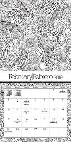 Calendario 2019 Para Colorear Calendario De Pared Bilingüe