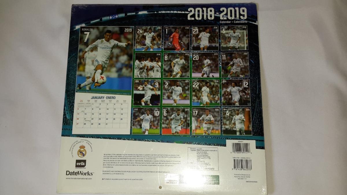Real Madrid Calendario.Calendario 2019 Real Madrid