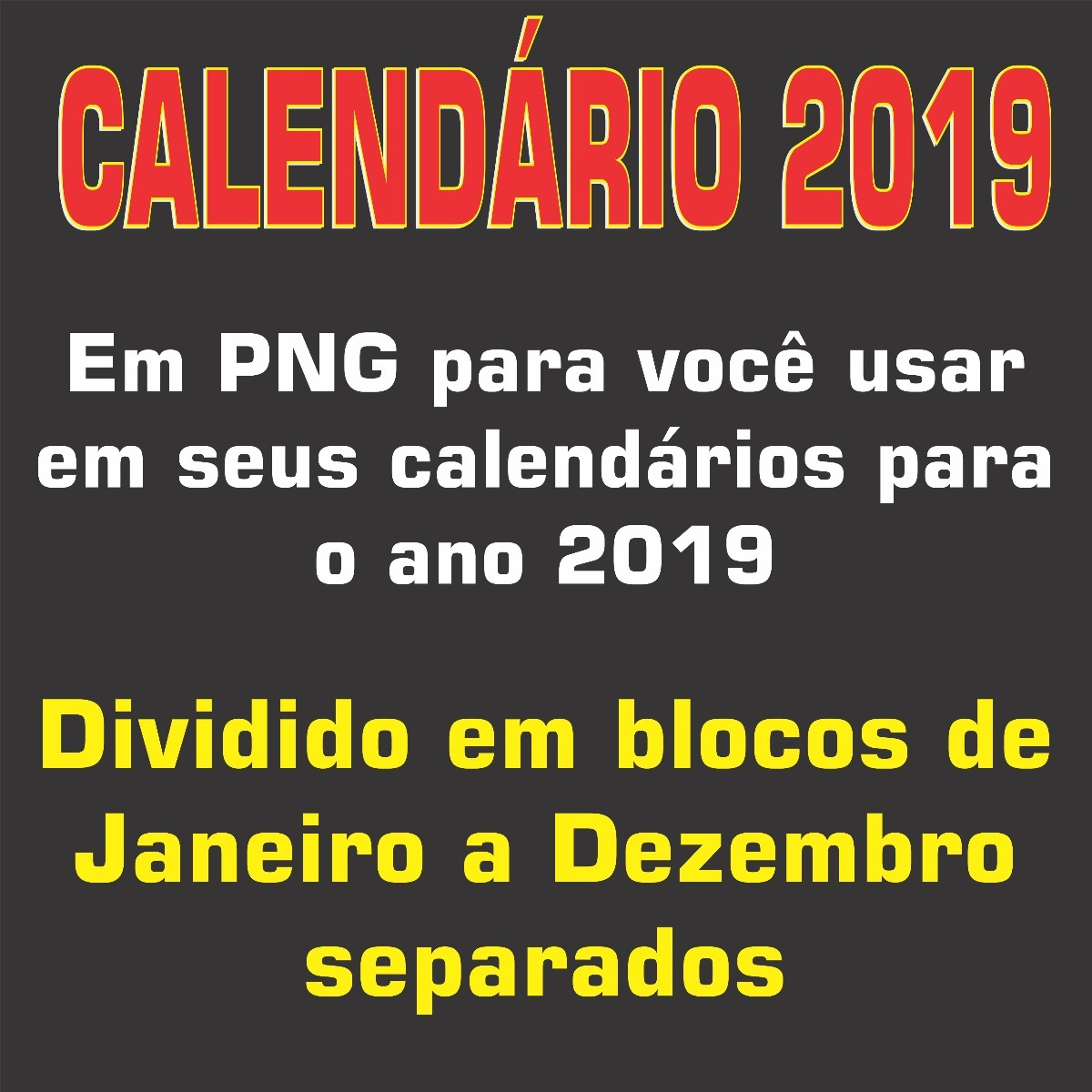 d9a0e36a8eb51 calendário 2019 sem tema em blocos divididos em meses -mod03. Carregando  zoom.