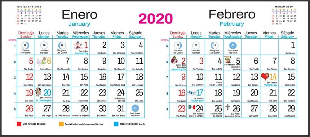 Calendario 2020 Para Imprimir Con Santoral Calendario 2019