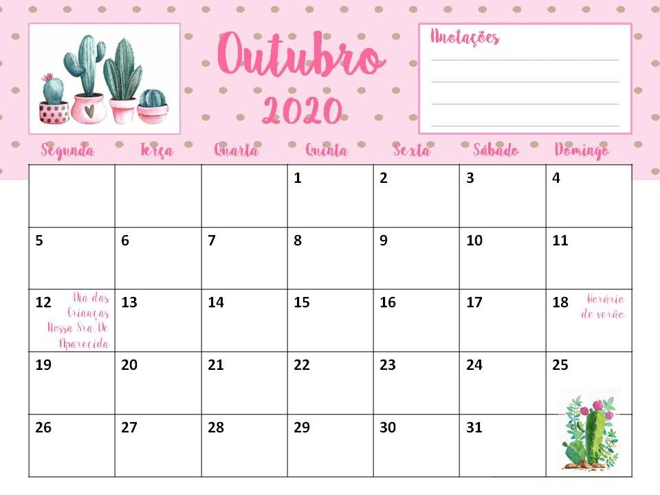 Pdf Calendario 2020.Calendario 2020 Cactos Suculentas Sem Propaganda Planner Pdf
