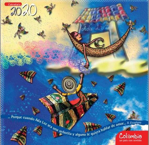 calendario 2020 colombia un país con sentido x 12 unidades
