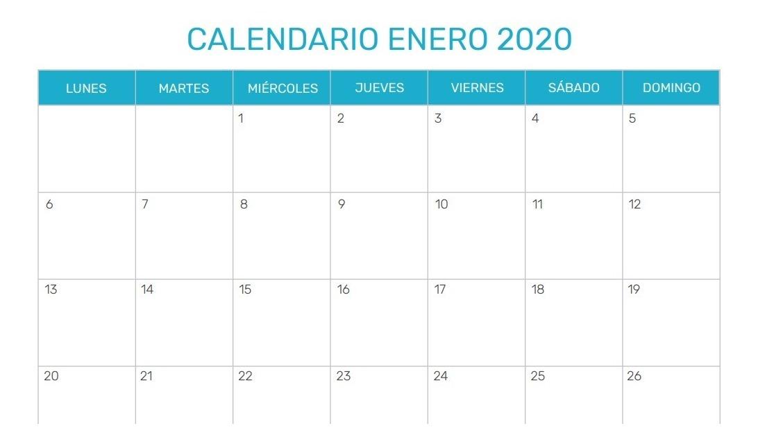 Calendario 2020 Com Feriados Para Impressao.Calendario 2020 Para Imprimir