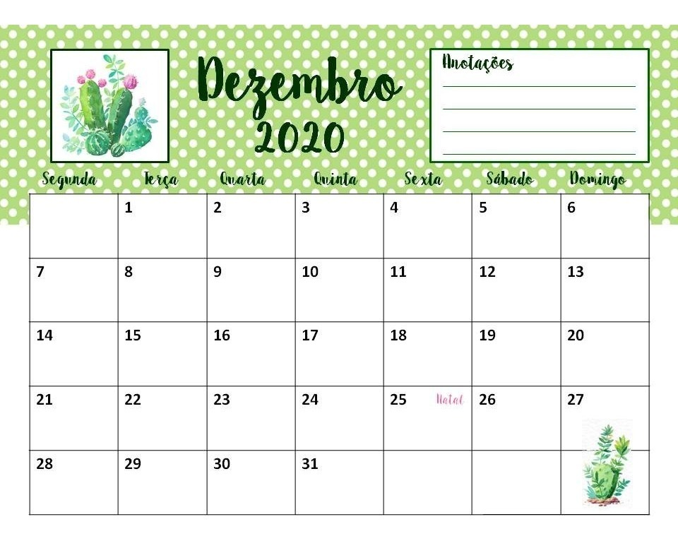 Calendario 2020 Com Feriados Para Impressao.Calendario 2020 Personalizado Sua Arte Aqui Planner Pdf