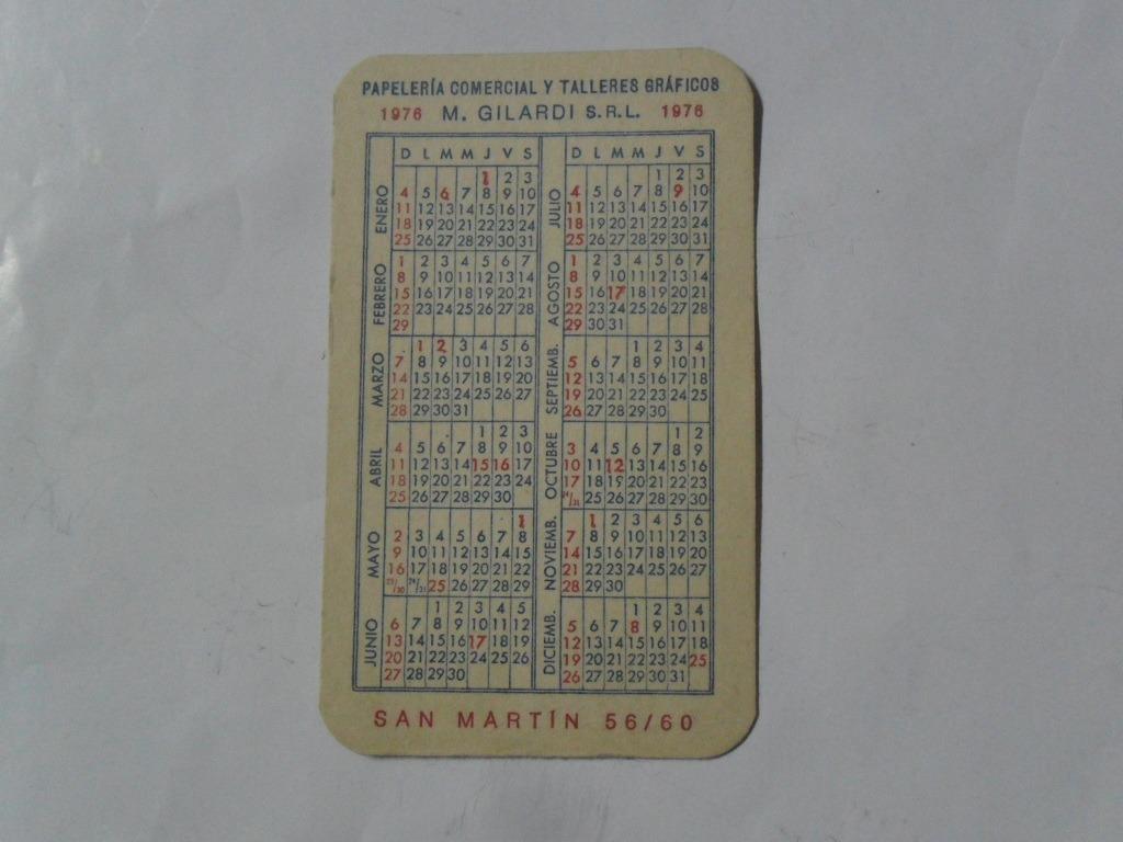 Calendario 1976 Argentina.Calendario Almanaque 1976 M Gilardi Srl Cumpleanos 25 00