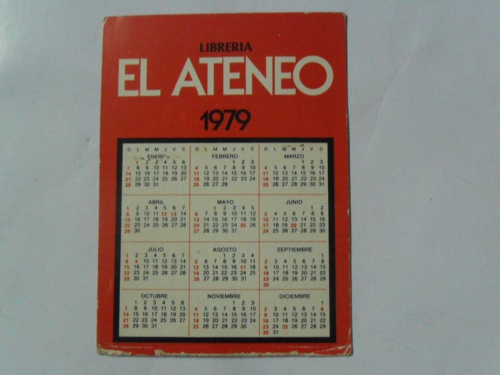 Calendario Enero 1978.Calendario Almanaque 1978 Libreria El Ateneo 1979 Cumpleanos 99 00