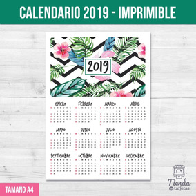 Mini Calendario 2019 Para Imprimir Grande.Calendario Almanaque 2019 Imprimible 3 Modelos Para Elegir