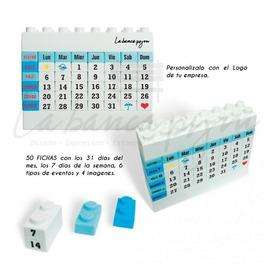 Calendario Almanaque Mensual Fichas Lego 2019 2020