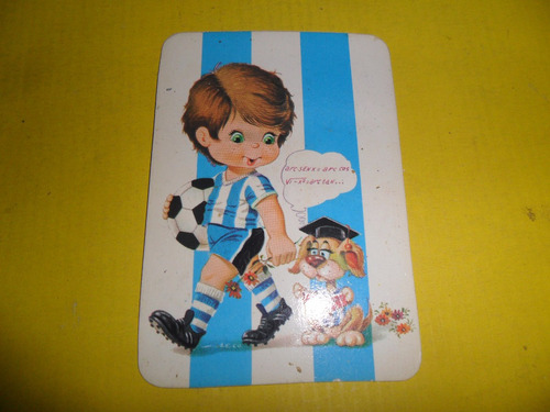 calendario almanaque racing club academia año 1998 futbol