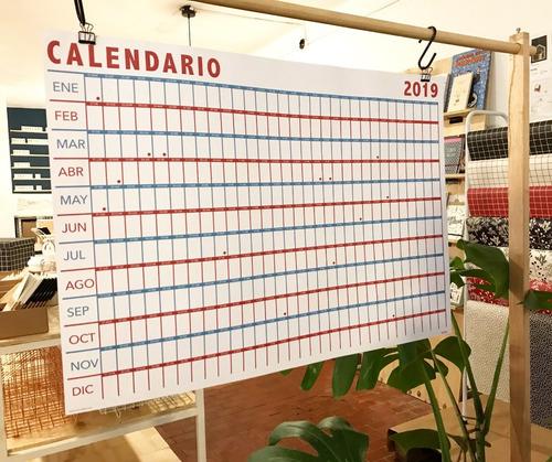 calendario año a la vista 2019