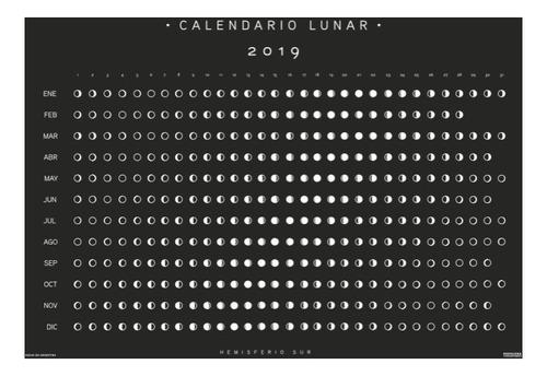 calendario año lunar a la vista 2019 hemisferio sur