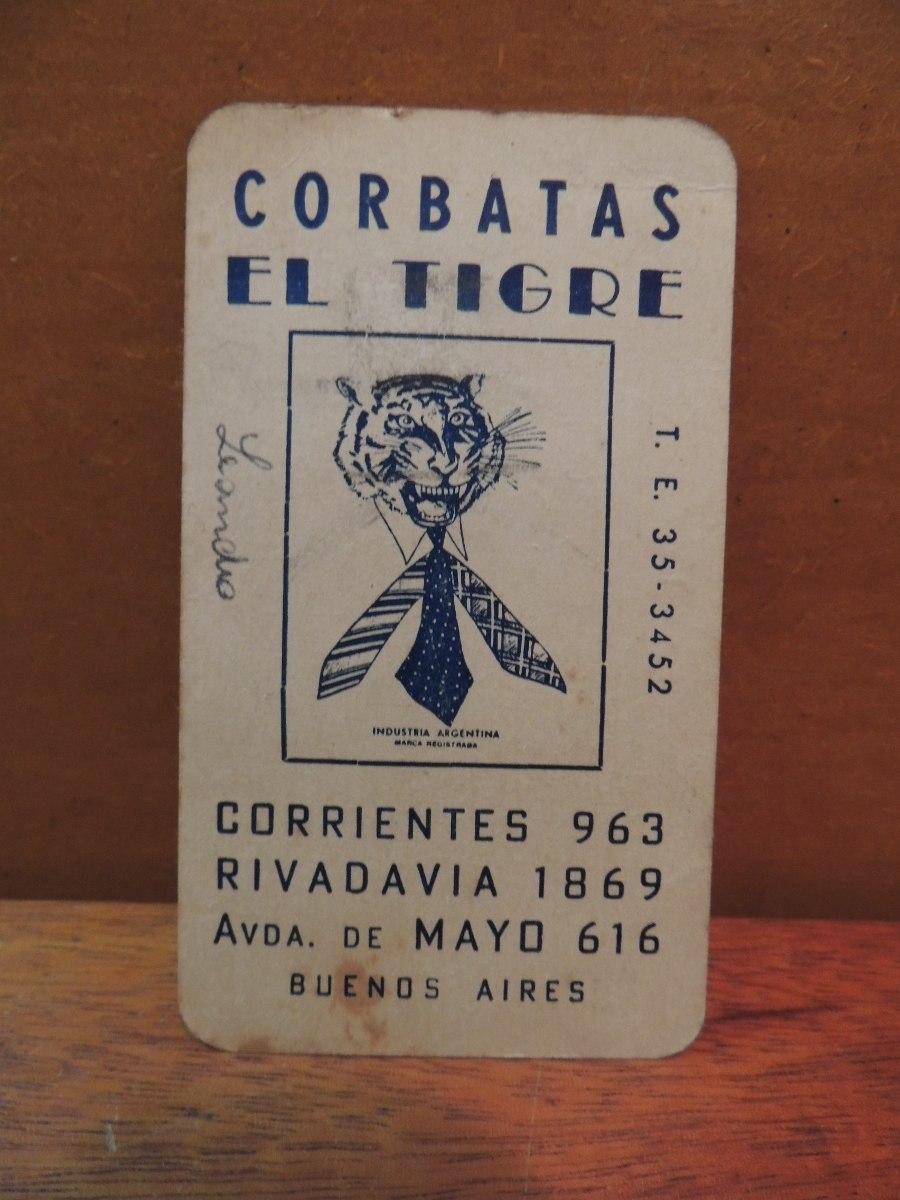 Calendario 1951.Calendario Antigo 1951 El Tigre De Las Corbatas Buenos Aires